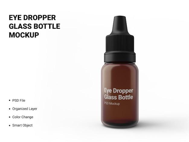 Makieta szklanej butelki z zakraplaczem do oczu