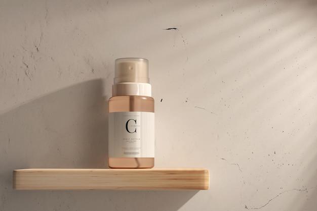 Makieta szklanej kosmetycznej butelki z rozpylaczem