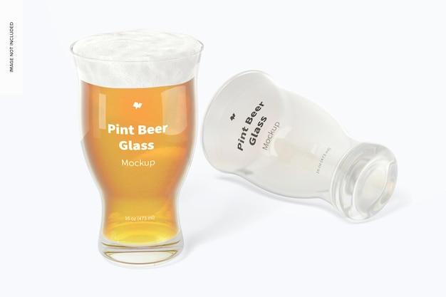 Makieta szklanki piwa 16 uncji, upuszczona