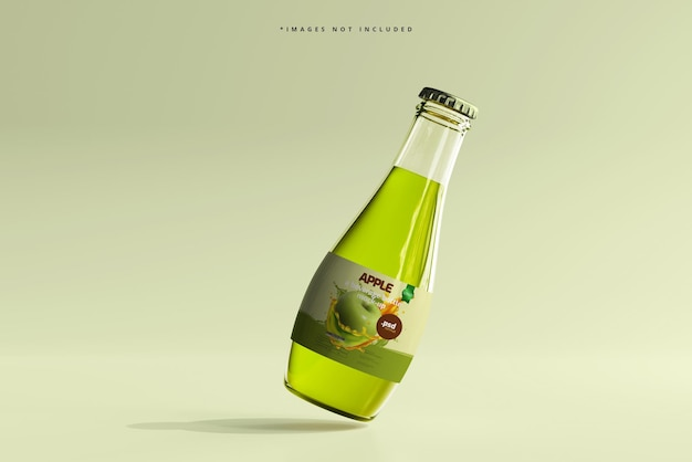 Makieta szklanych butelek po napojach