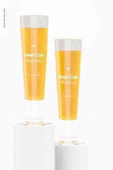 Makieta szklanych kubków piwa o pojemności 14 uncji