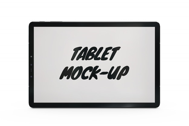 Makieta tabletu na białym tle