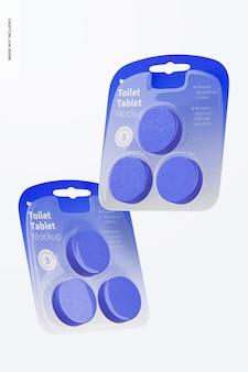 Makieta tabletu toaletowego, pływająca