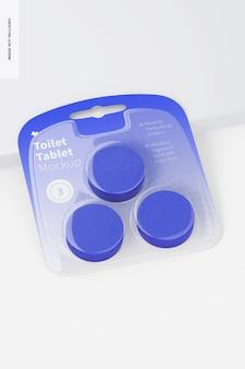 Makieta tabletu toaletowego, widok z góry