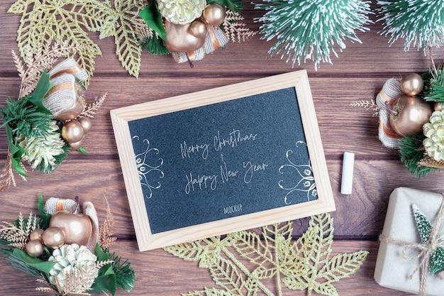 Makieta tablica na boże narodzenie i nowy rok