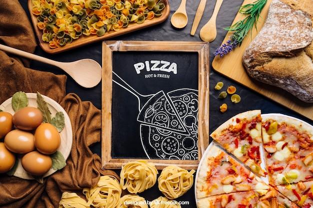 Makieta tablica z pizzy