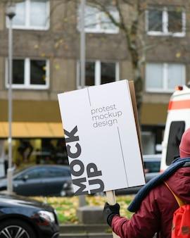 Makieta tablicy protestacyjnej