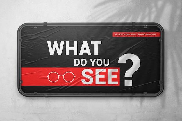Makieta tablicy reklamowej