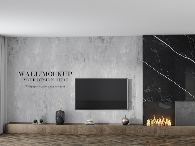 Makieta tapety do pokoju za telewizorem