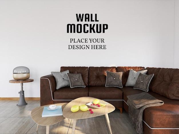 Makieta tapety w nowoczesnym salonie