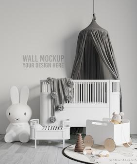 Makieta tapety wnętrza pokoju dziecięcego