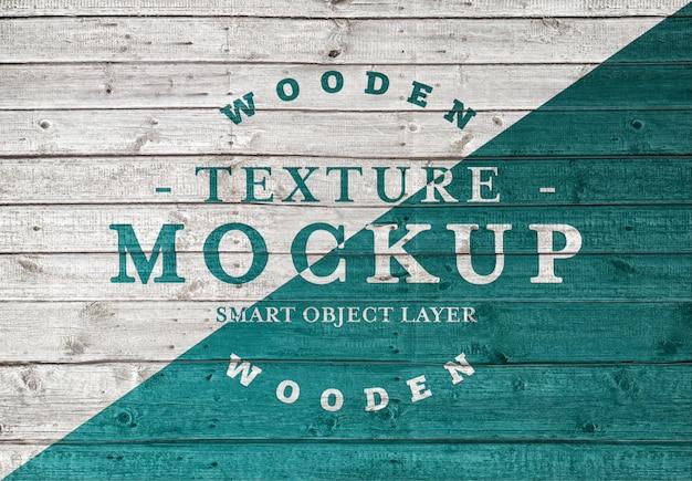 Makieta tekstury deski drewniane