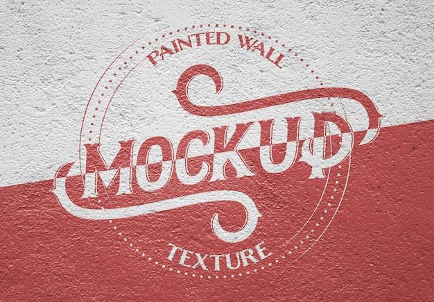 Makieta tekstury ściany malowane