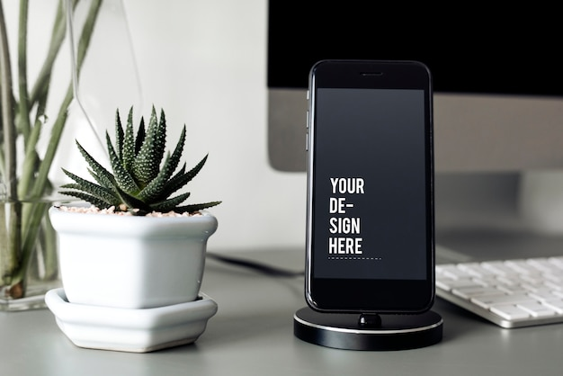 Makieta telefonu komórkowego na stojaku
