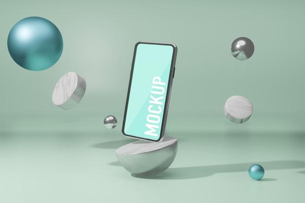 Makieta telefonu komórkowego twórca darmowej sceny psd,