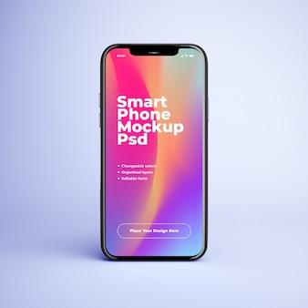 Makieta telefonu komórkowego z edytowalnym designem i zmiennymi kolorami
