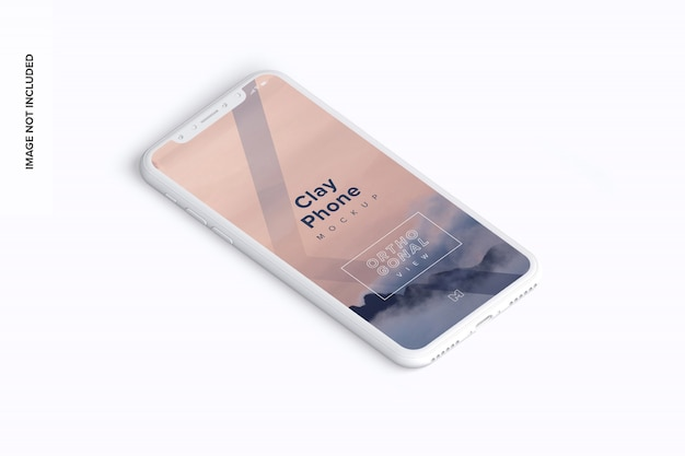 Makieta telefonu z gliną