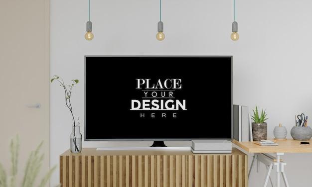 Makieta telewizora w salonie