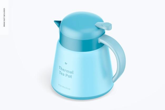 Makieta termicznego dzbanka na herbatę, widok izometryczny
