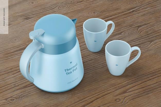 Makieta termicznego dzbanka na herbatę