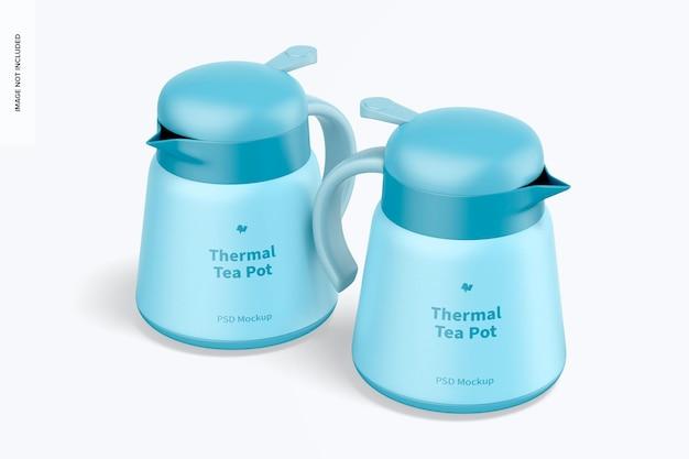 Makieta termicznych dzbanków na herbatę