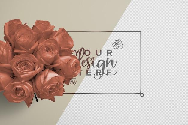 Makieta tła bukiet róż