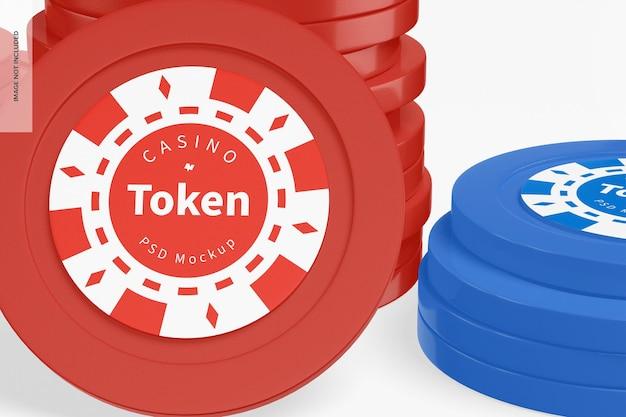 Makieta tokenów kasyna