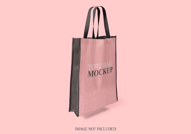 Makieta torby na białym tle