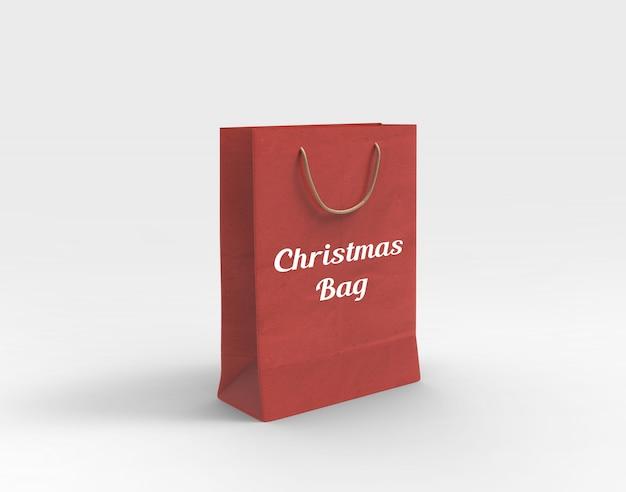 Makieta torby na boże narodzenie