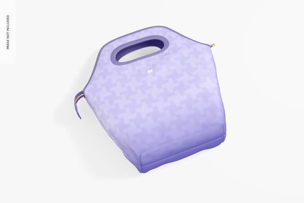 Makieta torby na lunch, widok z góry