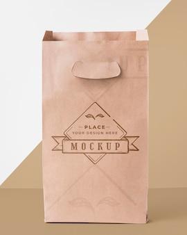 Makieta torby na tle bicolor