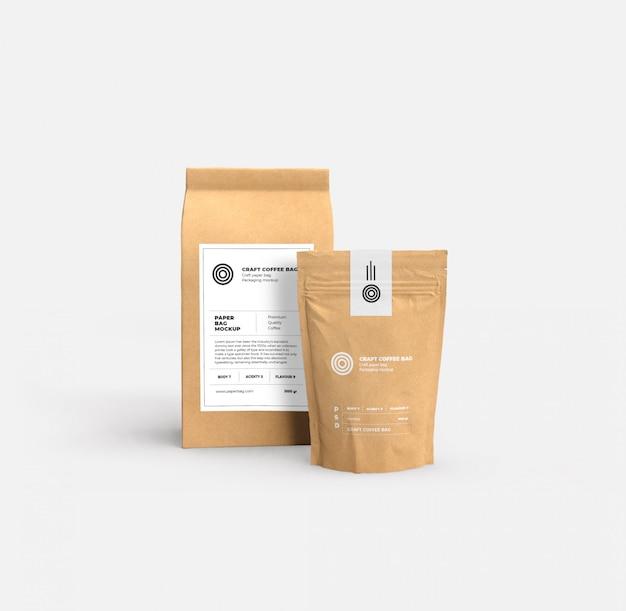 Makieta torby papierowe rzemieślnicze