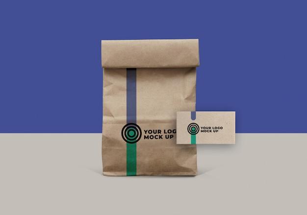 Makieta torby papierowej i wizytówki