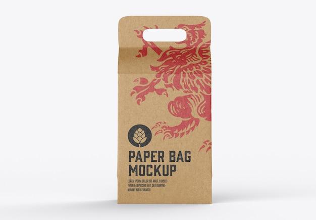 Makieta torby papierowej kraft