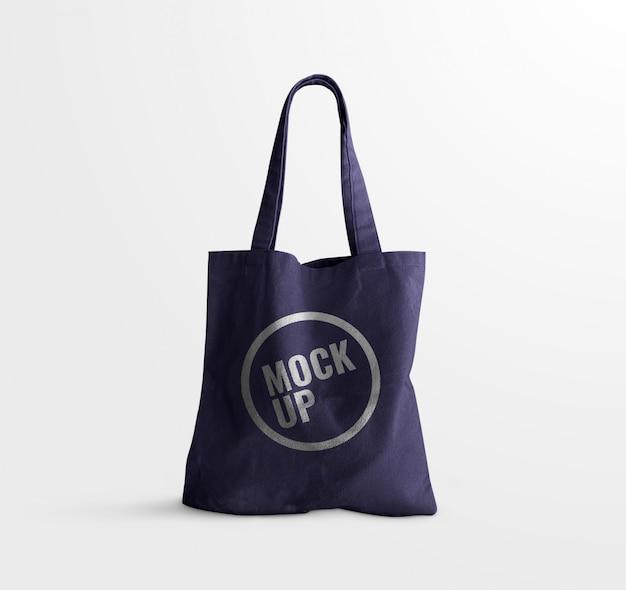 Makieta torby z niebieskim uchwytem jean