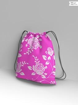 Makieta torby ze sznurkiem