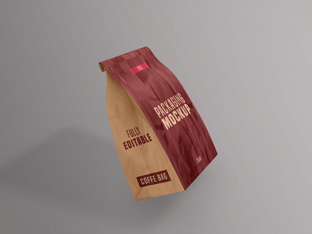 Makieta torebki kawy