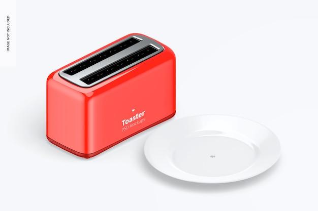 Makieta tostera, widok izometryczny z lewej strony