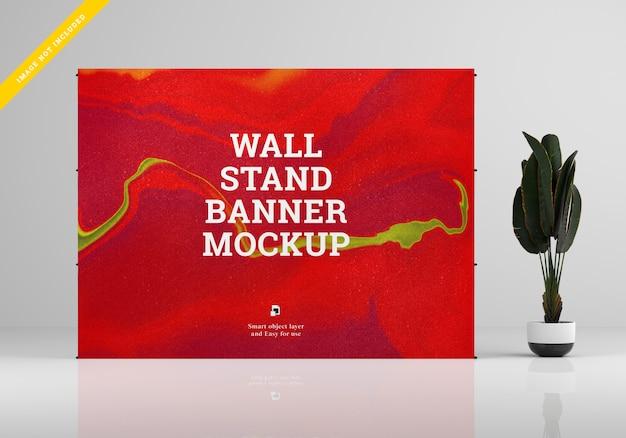 Makieta transparentu na stojaku na ścianie.