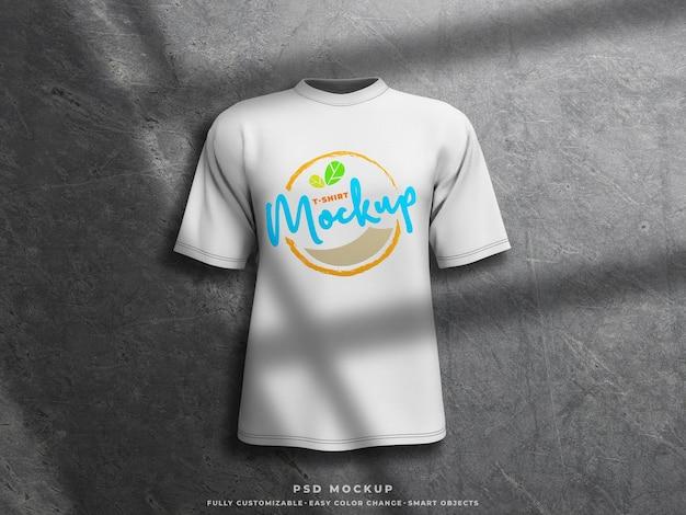 Makieta tshirt makieta z nadrukiem na koszulce 3d renderowanej