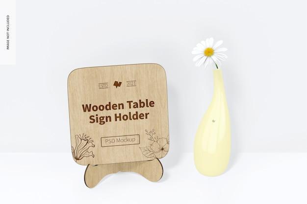 Makieta uchwytu drewnianego stołu, perspektywa