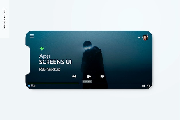 Makieta ui ekranów aplikacji, pozioma