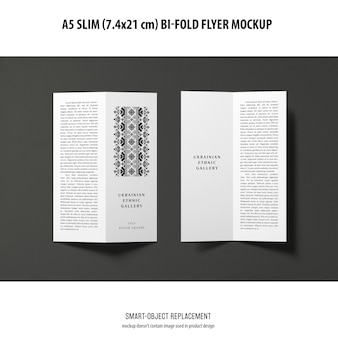 Makieta ulotki a5 slim bi-fold