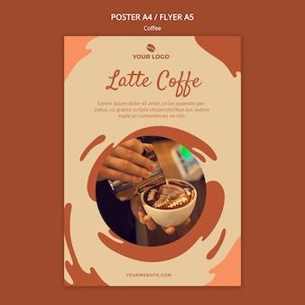 Makieta ulotki koncepcji kawy