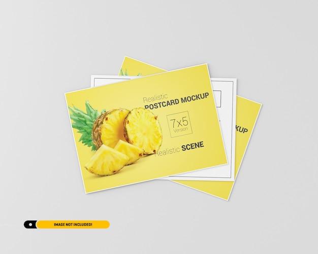 Makieta ulotki pocztówki