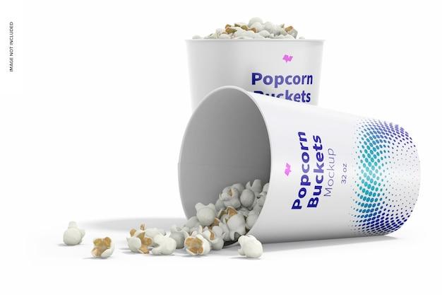 Makieta wiader do popcornu 32 uncji, widok z prawej strony