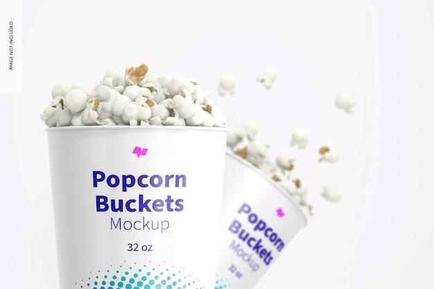 Makieta wiader do popcornu o pojemności 32 uncji, zbliżenie