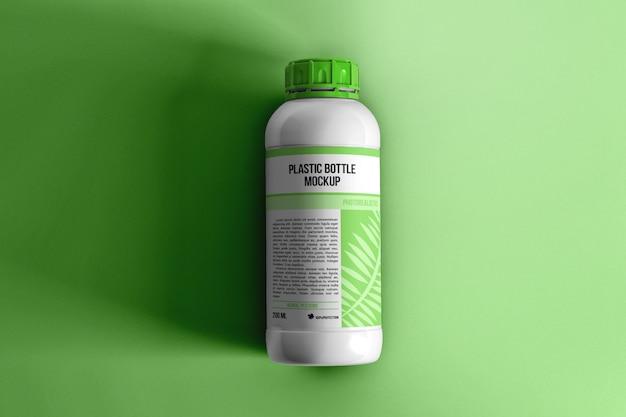 Makieta widok z góry butelki pestycydów