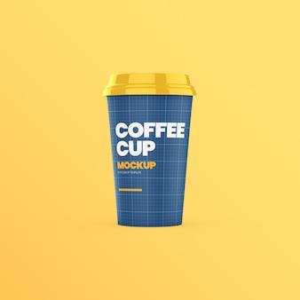 Makieta widok z przodu kubek papierowy kawy