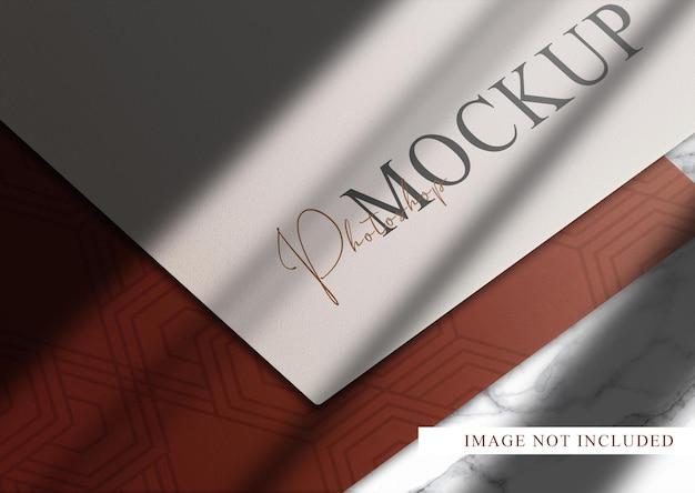 Makieta widoku perspektywicznego luksusowych papierów